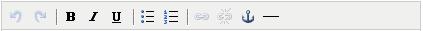 A short TinyMCE 3 toolbar