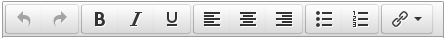 TinyMCE 4 toolbar with a rollup button