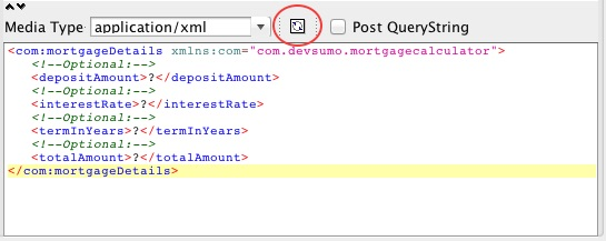 Posting to a JAX-RS XML service with SoapUI