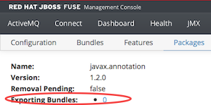Fuse java.annotation package provision on Java 1.8